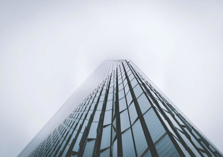 Pictures of Madrid Architecture in the Fog